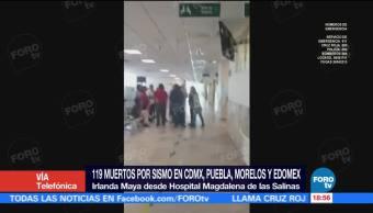 Hospital Magdalena de las Salinas atiende a pacientes tras sismo CDMX