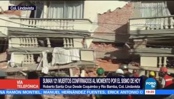Colapsa edificio de departamentos en Lindavista