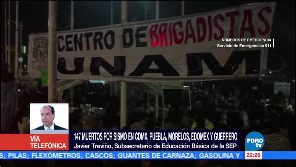 Suspenden Clases Cdmx, Morelos, Edomex Puebla Sismo