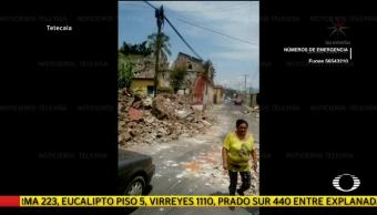 Imágenes de daños por el sismo