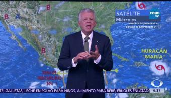 Prevén tormentas en Guerrero, Oaxaca y Chiapas