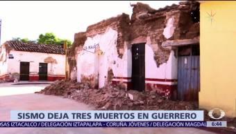 Tras sismo, mueren cuatro personas en Guerrero
