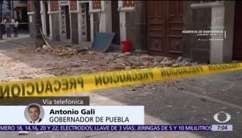 Antonio Gali, gobernador de Puebla, confirma 43 muertos tras sismo