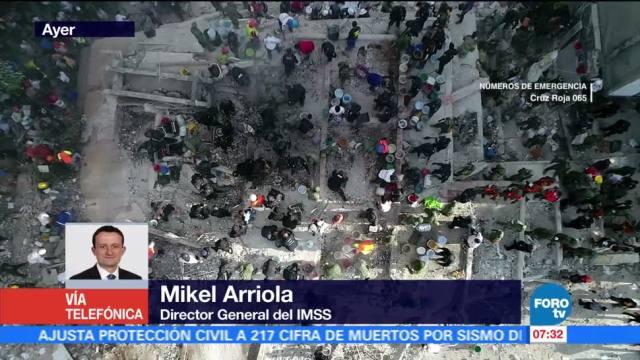 Mikel Arriola: Se han atendido a 350 lesionados por el sismo