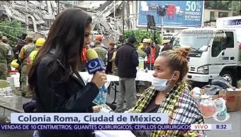 Suman 26 personas rescatadas en derrumbe de la calle Álvaro Obregón, CDMX