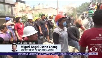 Osorio Chong: Se brinda atención médica y psicológica a afectados por sismo