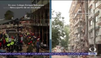 No permiten voluntarios en edificio derrumbado en Lindavista