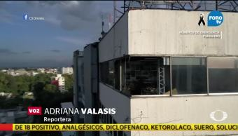 Descartan algún riesgo de colapso en el edificio del Plaza Condesa