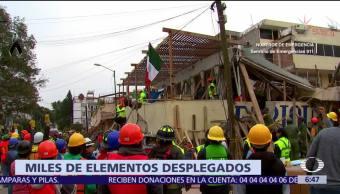 Ejército Mexicano despliega a más de 8 mil militares tras sismo