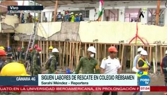 Detectan más cuerpos entre escombros del colegio Enrique Rébsamen