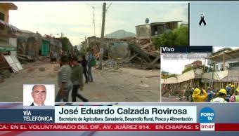Sagarpa: Hay 60 mil viviendas dañadas por sismo en Oaxaca