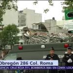 Sigue detenida operación de rescate en Álvaro Obregón 286, colonia Roma