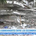 Buscan sobrevivientes entre los escombros de la Benito Juárez
