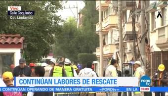 Edificio colapsado en Lindavista registra deslizamientos que afectan rescate