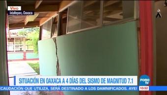 Escuelas de Ixtaltepec están a punto de caer, tras sismo del 7S