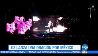 U2 lanza oración por México durante concierto