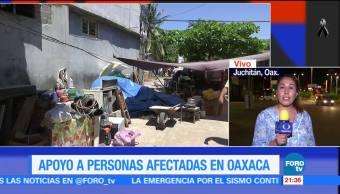 Continúa puente aéreo de ayuda por el sismo del 7 de septiembre en Oaxaca