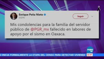 EPN confirma muerte de servidor público en Oaxaca