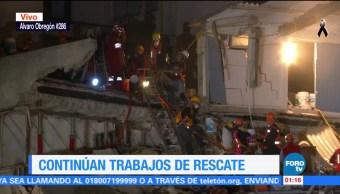 Se intensifican trabajos de rescate en Álvaro Obregón 286
