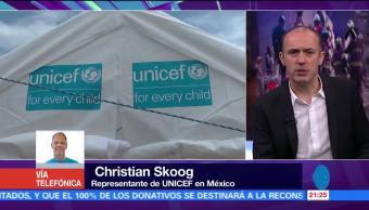 Unicef promueve espacios amigables para niños damnificados por sismo