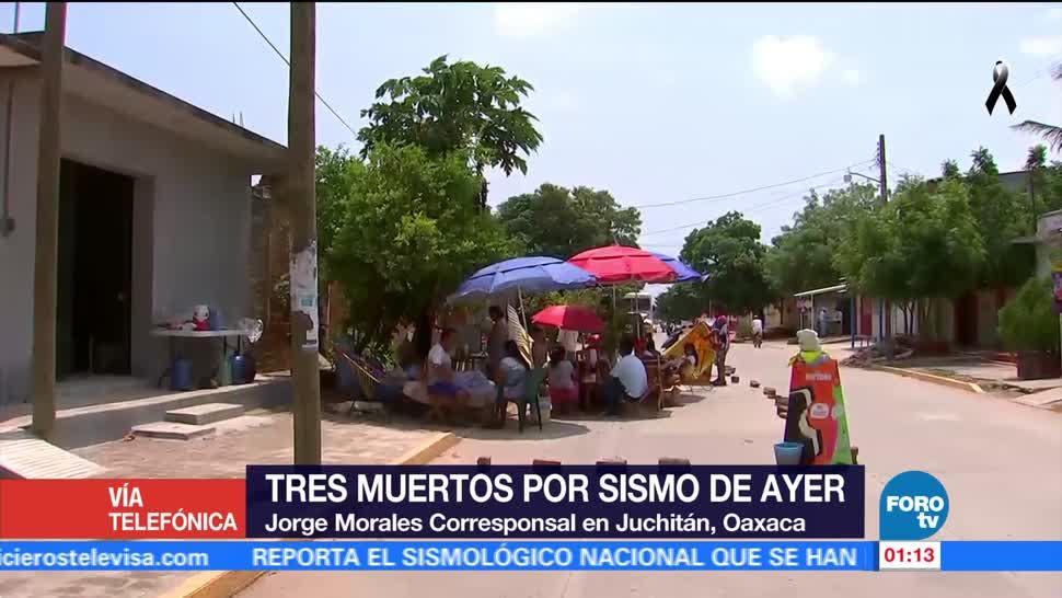 Familias cambian de hábitos tras sismo y réplicas en Oaxaca