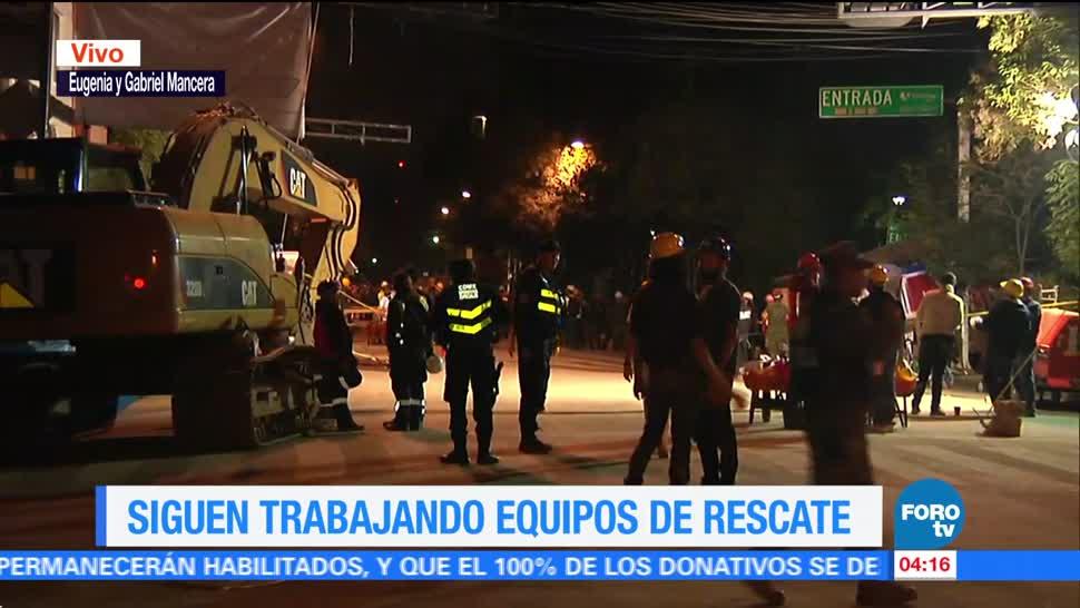 Topos y militares laboran en rescate de Eugenia y Gabriel Mancera