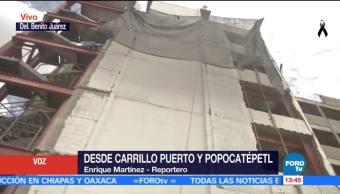 Vecinos temen que se desplomen estructuras en la Benito Juárez