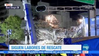 Continúa búsqueda de 40 desaparecidos en inmueble de Álvaro Obregón 286