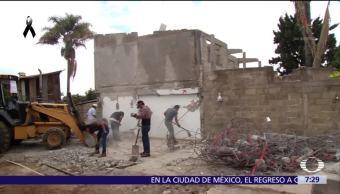 Sismo del 19-S destruyó la mitad de las casas en Tlatempa, Edomex