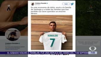 Cristiano Ronaldo se solidariza con familia de niño fallecido en colegio Rébsamen