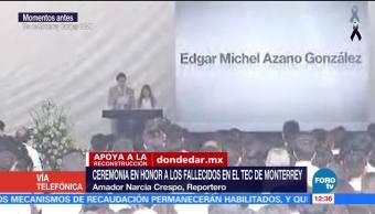 Realizan ceremonia por víctimas del sismo en Tec de Monterrey, campus CDMX
