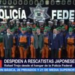 México despide a delegación rescatistas japoneses