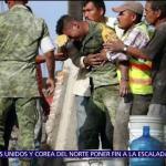 Buscan a soldado que rescató cuerpos de madre e hija tras sismo
