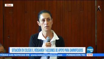 Claudia Sheinbaum reitera que intensidad del sismo 19-S fue mayor en Tlalpan