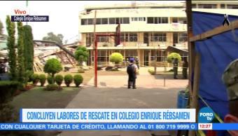 Tras rescate, esperan peritaje en el colegio Enrique Rébsamen