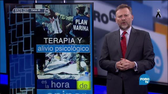 Terapia y alivio psicológico después de un sismo