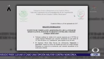 Invea pudo haber clausurado el colegio Rébsamen desde junio de 2017