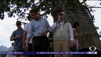 Reciben al gobernador de Morelos con rechifilas en Tlayacapan