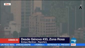 Cierran edificio afectado por sismo en la Zona Rosa