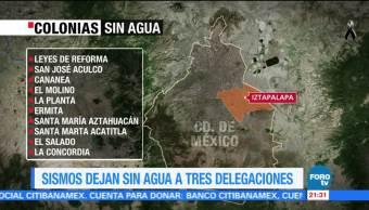 Sismos dejan fugas y afectaciones de agua en la CDMX