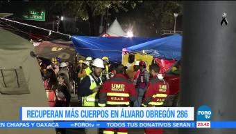 Suman más de 20 cuerpos recuperados en Álvaro Obregón 286