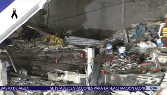 Rescatistas españoles continúan laborando en Álvaro Obregón 286