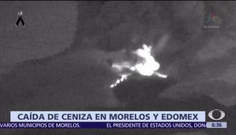 Se registra caída de ceniza del Popocatépetl en Morelos