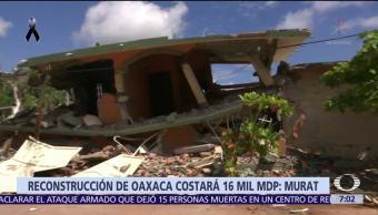 Reconstrucción en Oaxaca costará 16 mil mdp, dice Alejandro Murat