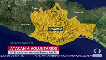 Comando armado ataca a voluntarios que llevaban ayuda a damnificados en Oaxaca
