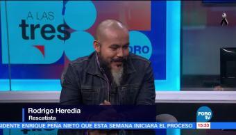Rodrigo Heredia narra su labor de rescate en Álvaro Obregón