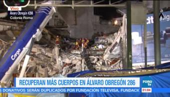Siguen trabajos de rescate en Álvaro Obregón 286