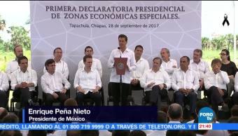 EPN firma decreto sobre primeras zonas económicas especiales
