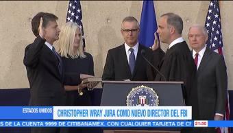 Christopher Wray jura como nuevo director del FBI
