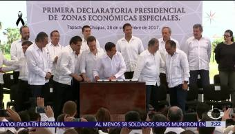 Peña Nieto firma decretos que crean las primeras zonas económicas especiales